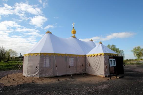 Церковь-палатка в Колпине