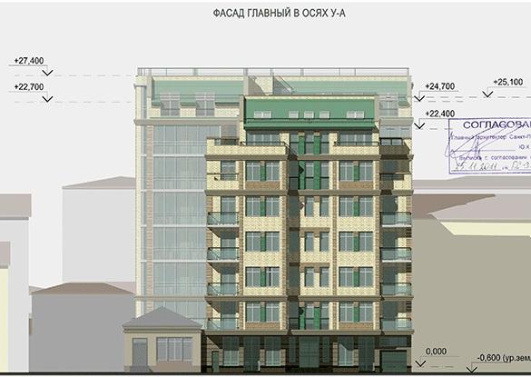 Фасад дома на 14-й линии, 57-61