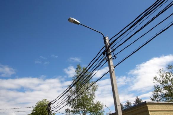Провода на улице Танкистов