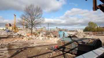 Рыбинская улица, демонтаж трубы