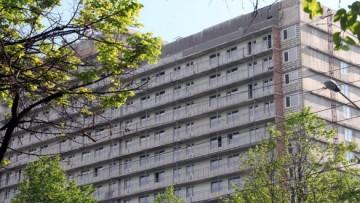 Строящееся общежитие на Новоизмайловском
