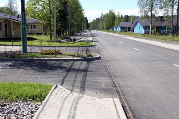 Тротуар на улице Танкистов