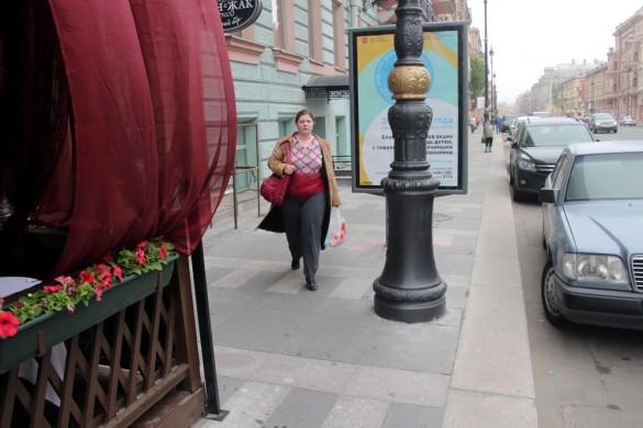 Улица Марата, столб