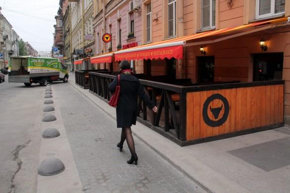 Улица Рубинштейна, летнее кафе