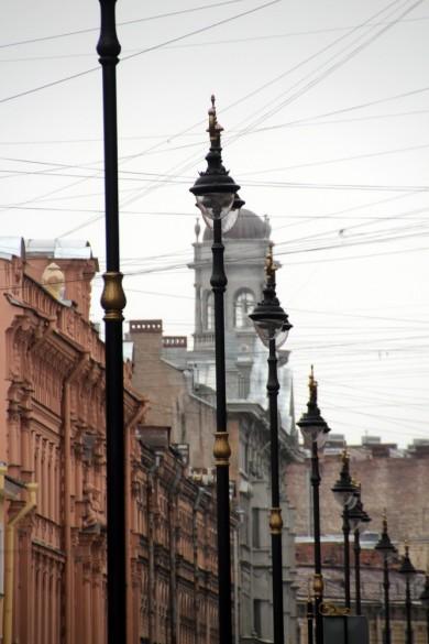 Улица Рубинштейна, фонари