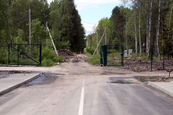 Улица Танкистов в направлении станции Солнечное