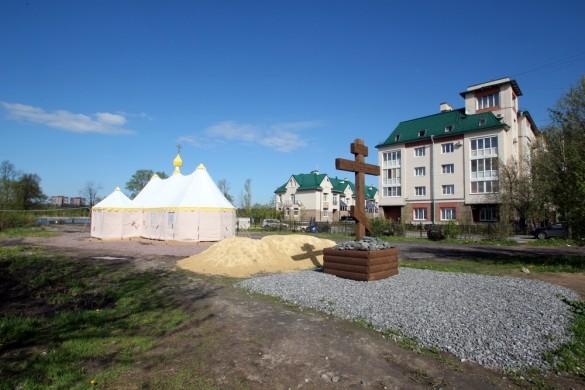 Временная церковь в Колпине на улице Анисимова