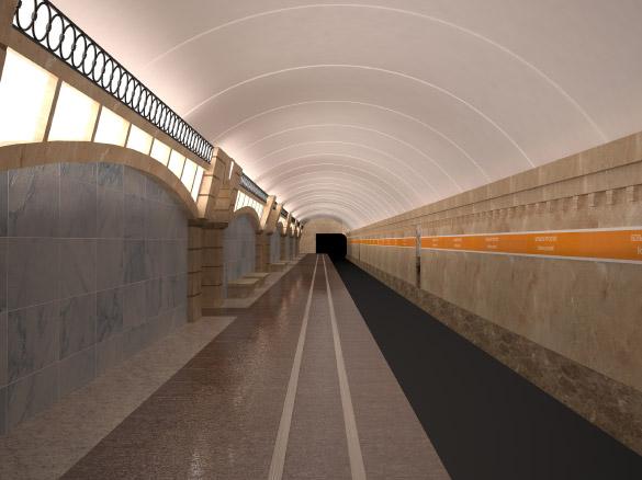 Станция метро Большой проспект, Горный институт