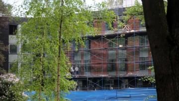 Фасад спорткомплекса на Рюхиной