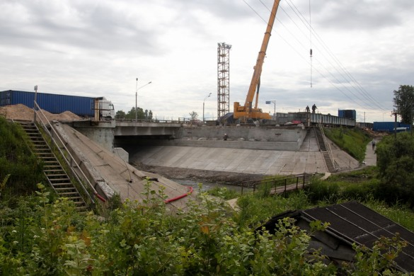 Место нового моста через Славянку