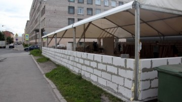 Павильон из пенобетона на Ивана Черных