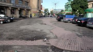 Пешеходная зона у Нарвской