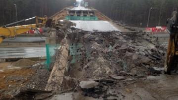 Снос путепровода на Мурманском шоссе