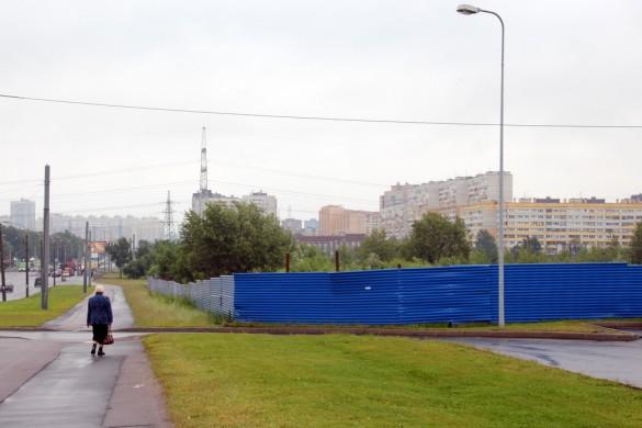 Строительство гипермаркета Окей на Партизана Германа