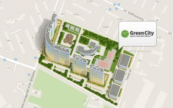 Жилой комплекс GreenCity на проспекте Александровской Фермы
