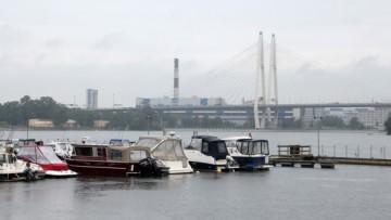 Большой Обуховский мост, пристань