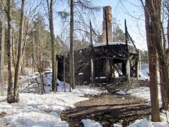 Дача Цвета в Сестрорецке после пожара