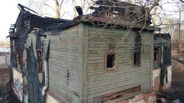 Дом Слепушкина после пожара