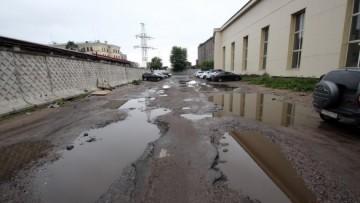 Лужи на улице Булавского