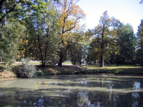 Строгановский сад, пруд