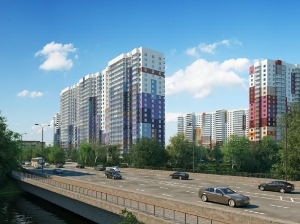 Жилой комплекс Зима-лето с моста Энергетиков