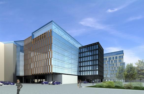 Новый корпус Фрунзенского универмага во дворе