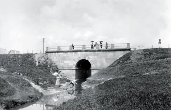 Мост через Пулковку до революции