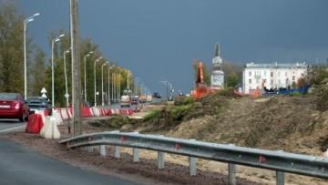 Петербургское шоссе, реконструкция, верстовой столб