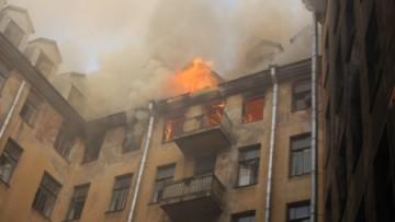 Пожар в доме на Большой Пушкарской, 7