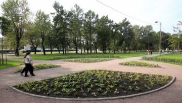 Сад Театра Юных Зрителей, клумба