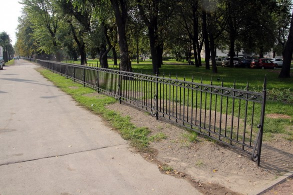 Сад Театра Юных Зрителей, ограда