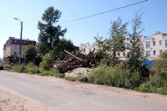 Снос домов в поселке Ленино на Петергофском шоссе