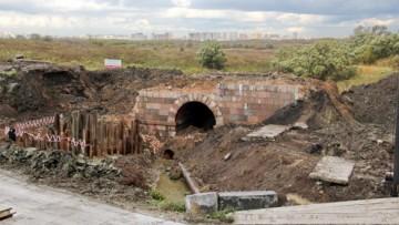 Снос моста на Петербургском шоссе в Пулковском
