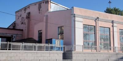 Воссозданный фасад веерного депо