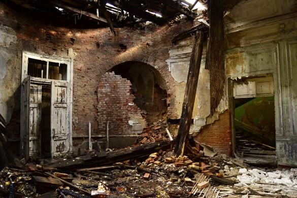 Дача Дурново после пожара