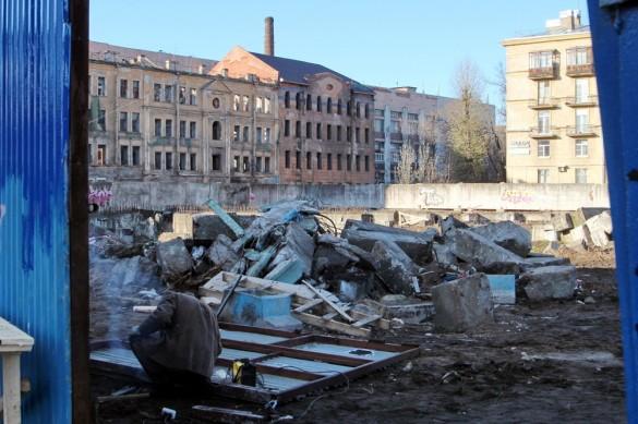 Демонтаж фундаментов на Пионерской, 59