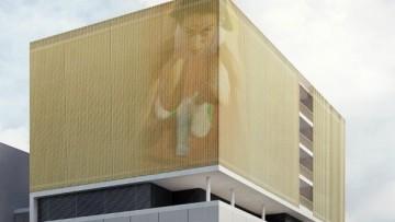 Фрагмент фасада стадиона на Ситцевой