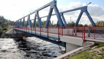Мост через Вуоксу в поселке Лосево