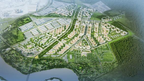 Новый город у Новосаратовки