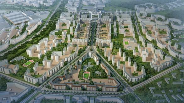 Планировка города в Новосаратовке