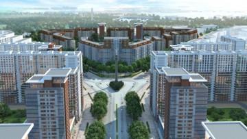 Площадь нового города в Новосаратовке