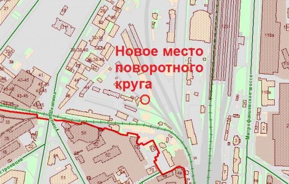 Поворотный круг у Балтийского вокзала