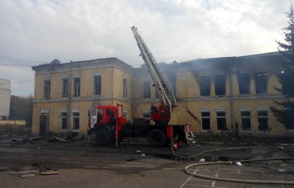 Пожар в войсковой части Красного Села