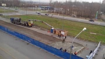 Строительство павильона в Славянке