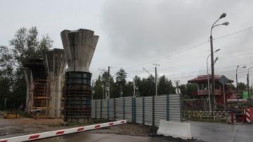 Строительство Поклонногорского путепровода