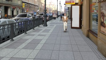 Так будет выглядеть тротуар на улице Восстания после ремонта