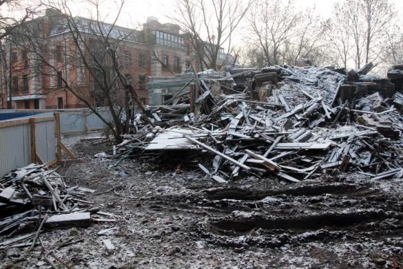Снос флигеля Городовой ратуши в Пушкине