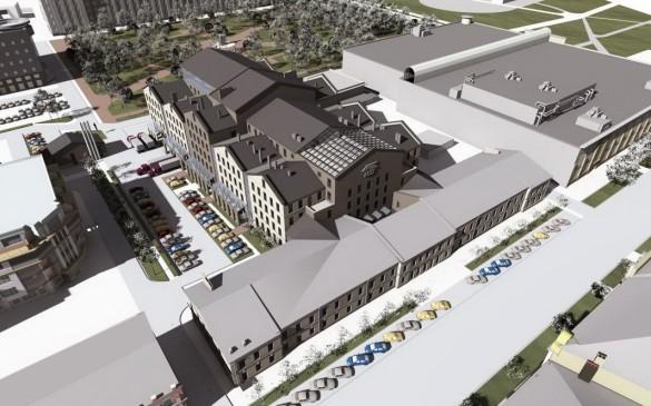 Общий план нового здания МДТ