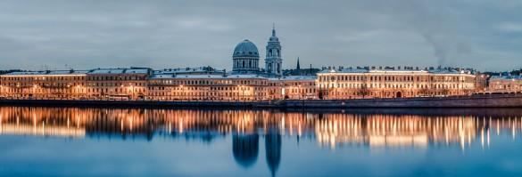 Подсветка набережной Макарова