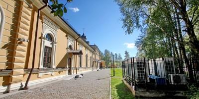 Пушкин, церковь Сергия Радонежского, задний фасад